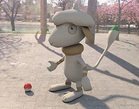 3D asset Pokemon smeargle
