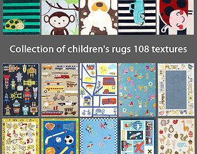 Collection of childrens rugs 108 textures 3D