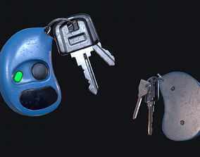 HQ PBR Keychain 3D model VR / AR ready