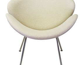 Wide Cotton Side Chair 3D