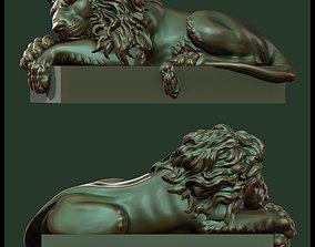 asian 3D printable model Lion sculpture
