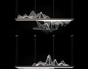 silver droplight 3D