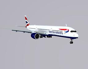 A350-900 British Airways 3D model