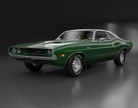 transport Dodge Challenger 1970 3D model