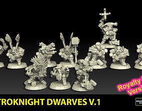 3D print model Astroknight Dwarves Megapack 1 ROYALTY FREE