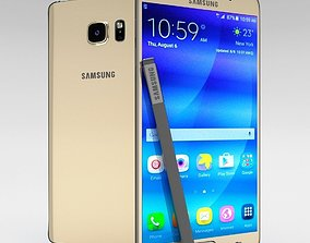 3D model Samsung Galaxy Note 5 Gold Platinum