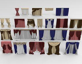 3D model Curtains - 21 pieces