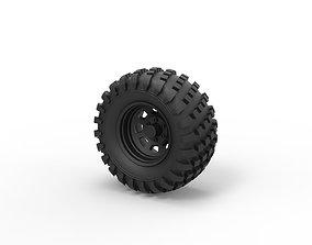 Diecast Offroad wheel 22 3D printable model