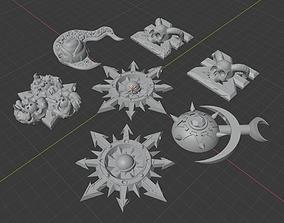 Chaos Gods symbol pendant 3D printable model