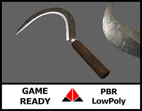 3D model game-ready Sickle