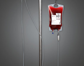 3D model Medical IV Pole HPL - PBR Game Ready