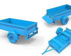 3D printable model equipment Trailer