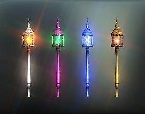 Lantern magic wands collection 3D asset
