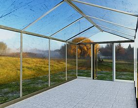 3D asset Green House Glass
