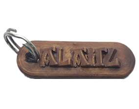 ALAITZ Personalized keychain embossed 3D print model 1