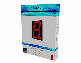 3D asset Seven Segment Display Model