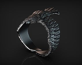 3D print model Stylized Bird Eagle Ring