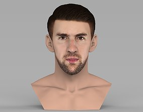 Michael Phelps bust ready for full color 3D printing