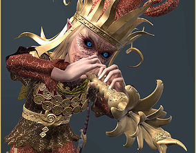 Night Elf Bard 3D model animated