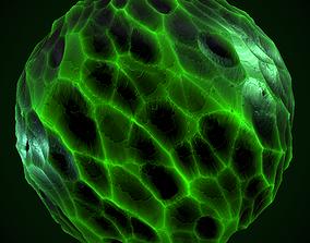 3D model Obsidian Rock Green Material PBR