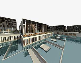3D model city-block modular Office Building