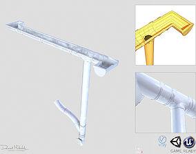 White Plastic Gutter System PBR 3D asset