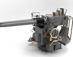 projectile 3D printable model Gun Uss Slater DE-766 cannon