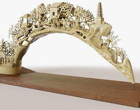 3D Elephant Tusk Ivory