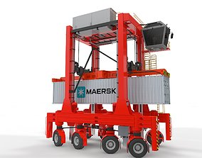 3D Straddle Carrier for Port