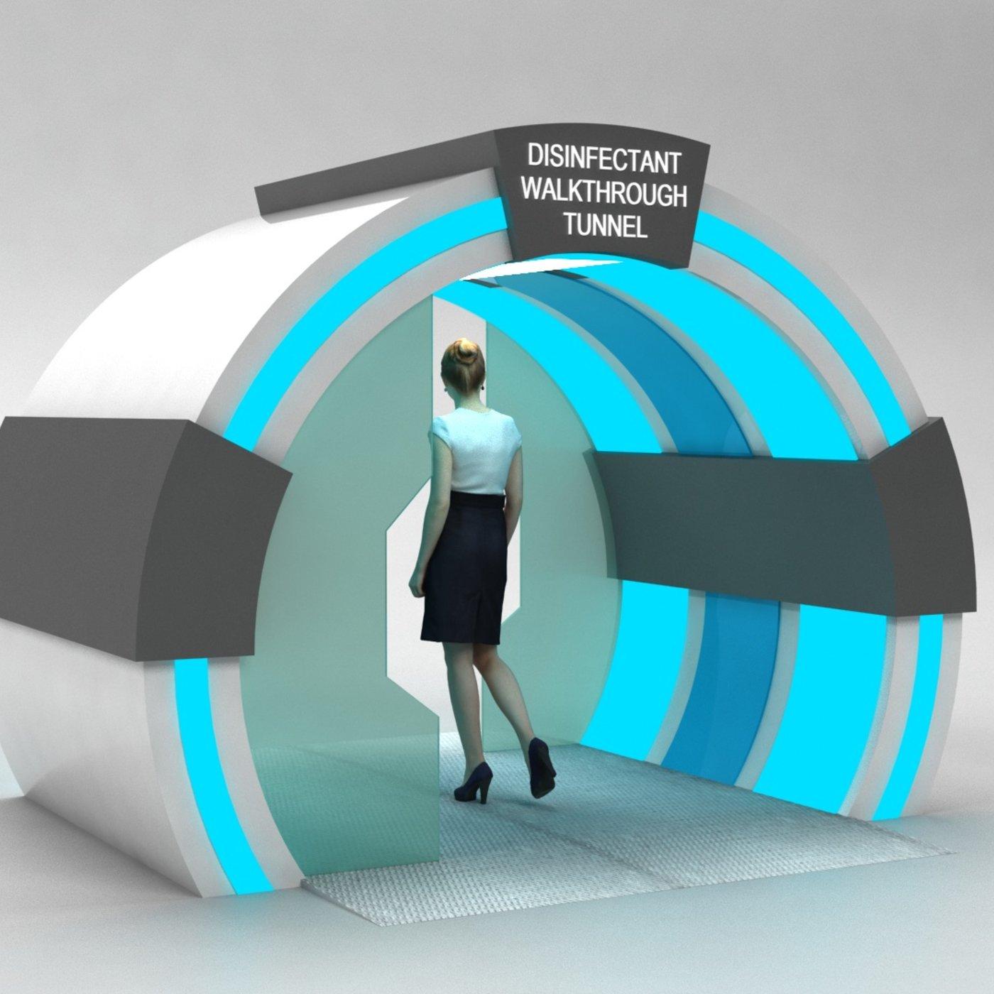 Sanitizer Gate Disinfectant walk through Tunnel