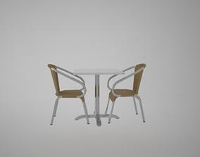 house Armchair and balcony desk furtine 3D model