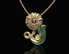 Pretty Rose with stalk-pendant 3D printable model