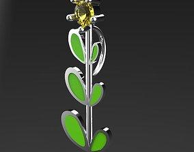 3D printable model tree flower pendant
