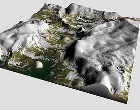 Detailed Snow Mountain Model low-poly
