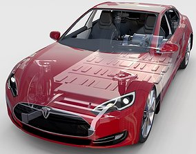 Tesla Model S with chassis-interior rev 3D