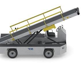 3D model Airport Conveyor Belt Loader TUG 660