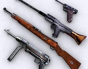 3D model WW2 lowpoly german firearms