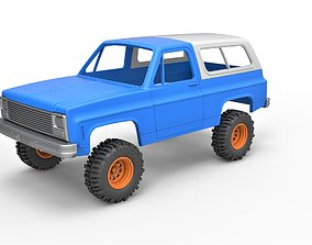3D print model Diecast shell 1980 Chevrolet Blazer K5 5