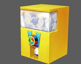 3D model animated Capsule Machine