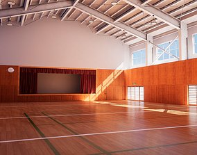 game-ready Japanese School Gym - Over 30 Assets Pack