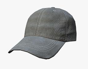 Baseball cap - khaki 3D model