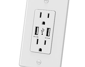 rapid USB Wall Outlet 3D