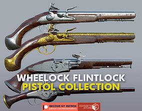 Weapon - Flintlock Wheellock Pistol Pack Bundle 3D model