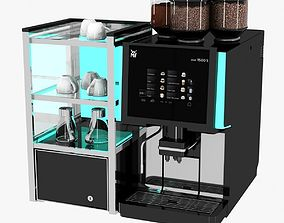 glossy 3D model WMF coffee machine bean to cup