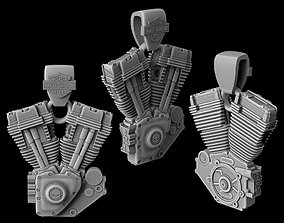 3D print model Suspension Harley Motorcycle Engine