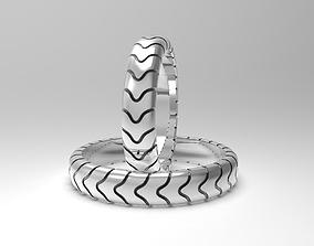 Simple narrow wedding bands 3D print model