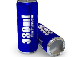 Drinks Can - 330ml Slim 3D asset