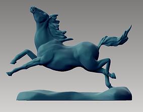 3D printable model jumping horse