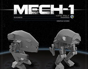Mech 1 Low Poly 3DS MAX 2011 rigged
