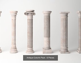 3D Antique Column Pack - 6 Pieces